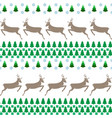 deer and tree seamless pattern fashion graphic vector image vector image
