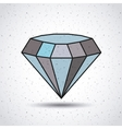 diamond isolated icon design vector image