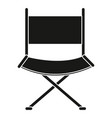 director chair isolated icon vector image vector image