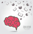 Education abstract conceptual background vector image vector image