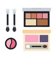 eye shadows in open cases icon flat isolated vector image vector image
