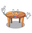 finger wooden table isolated on the mascot vector image