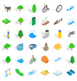 fish icons set isometric style vector image vector image