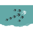 Flock of birdsswallow flying in the sky vector image vector image