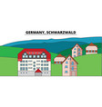 germany schwarzwald city skyline architecture vector image vector image