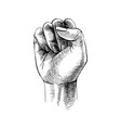 hand drawn raised fist vector image