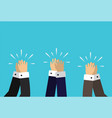 hands clapping applause vector image