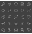 Hearts white icons vector image