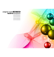 high tech chrstmas background vector image vector image