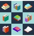 isometric books vector image