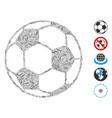 linear football ball icon mosaic vector image vector image