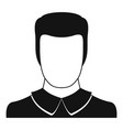 male avatar icon simple vector image vector image