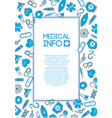 medical care template vector image vector image