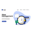 modern flat design time management can be used vector image vector image