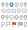 Navigation pins collection Minimalism vector image vector image