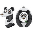 number ten with panda character vector image