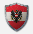 old shield with flag vector image vector image