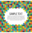 puzzle frame template vector image