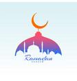 ramadan kareem design with mosque silhouette vector image vector image