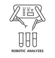 robotic analyzes icon vector image vector image