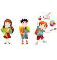 school children vector image vector image
