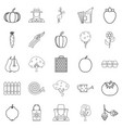 sector icons set outline style vector image
