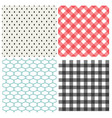 set of classic seamless pattern vector image vector image