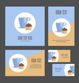 set of corporate branding cake and cup in packing vector image vector image