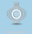 silver metallic round logotype on light blue vector image vector image