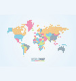 simple colorful world map on white background vector image