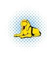 Sphinx icon in comics style vector image vector image