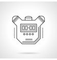 Sport timer flat line design icon vector image vector image