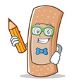 student band aid character cartoon vector image vector image