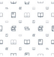 studying icons pattern seamless white background vector image vector image