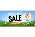 summer sale with grass border vector image vector image