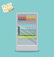 supermarket in flat design vector image vector image