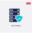 two color data storage icon from gdpr concept vector image vector image
