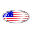 united states flag oval button vector image vector image