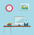 worplace location set icons vector image