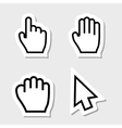 Hand Cursors Icons as Labels vector image