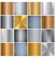metal texture realistic big icons set vector image