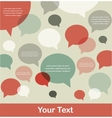 retro speech bubble background with a place for vector image