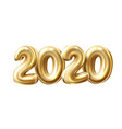 2020 new year 3d golden numbers balloons vector image vector image