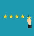 5 star positive review customer feedback vector image vector image