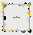 abstract modern yellow and black geometric shape vector image vector image