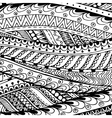 Asian ethnic doodle black and white pattern in vector image vector image