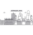 azerbaijan baku line skyline vector image vector image