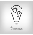 Bulb with gearwheels vector image vector image