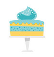 cake on a cake stand cartoon vector image