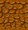 cartoon seamless background pattern coffee beans vector image